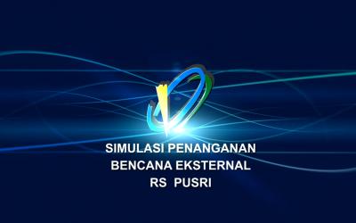 Simulasi Penanganan Bencana Rumah Sakit Pusri
